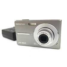 Olympus FE-360 8.0MP Digital Camera - Silver With Charger Manual Tested