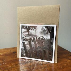 "DANNY LYON Signed Photograph - BIKERIDERS Magnum Archival Square Print - 6"" x 6"""