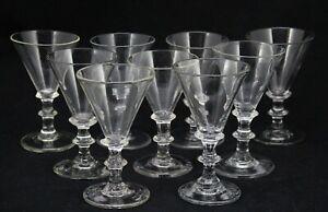 9x antique 18th C Red Wine Glass, made ca. 1780 in Holland, ca. 12,2cm/4.8inch
