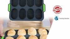 Silicone French Bread Baking DIY 8 Roll Mold Baguette Tray Bakery Pan Non-stick