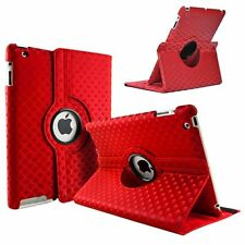RED Diamond Fashion Leather 360° Rotating Stand Case Cover For iPad 2/3/4 UK