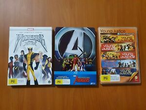 Marvel/DC Avengers, X-Men, Young Justice Triple Pack DVD/Blu Ray