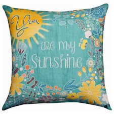 """1 You Are My Sunshine You Make Me Happy 17/"""" x 9/"""" Word Pillow NWT Made in USA"""