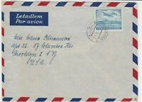 czechoslovakia 1948 airmail stamps cover ref 19679