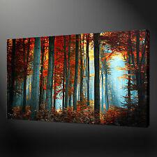 Estilo de pintura de Lona Pared Arte Moderno Bosque Impresión Cuadro Listo para Colgar