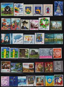 Estonia, Latvia, Lithuania 91 used stamps