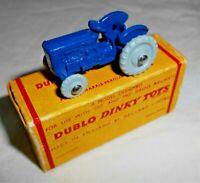 DINKY DUBLO No.069 DARK BLUE MASSEY HARRIS FERGUSON TRACTOR IN REPLICA BOX