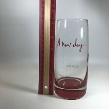 Celine Dion A New Day Concert Las Vegas Caesars Clear W/ Red Base Tumbler Glass