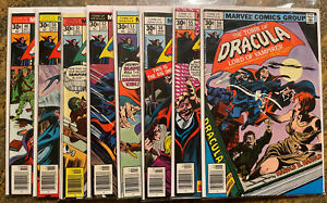 Tomb of Dracula Run 49-56: 8 Books Marvel Bronze Age Lot (Blade Appearances) VF+