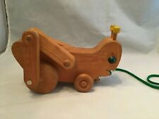 Wooden Toy Grasshopper Pull Toy / Wood Toy - VINTAGE