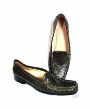 New ANTONIO MELANI Women Leather Flat Slip On Moc Loafer Pump Shoe Sz 6.5 M
