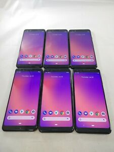 LOT of 6 Google Pixel 3 G013A 64/128GB GSM Unlocked Android Smartphone #A349L