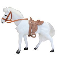 Regal Bobblehead Horse with Auto Dashboard Adhesive (White)