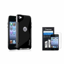S Shape BLACK TPU Rubber Soft Gel SKIN CASE COVER FOR IPOD TOUCH 4 4th G GEN USA