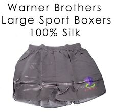 Large Warner Brothers Sport 100% Silk Boxers Underwear Men's Unique Soft Smooth