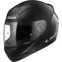 LS2 FF352 Rookie Negro Brillante Completo Ligero Casco de Moto