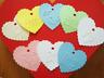 10 Kraft Gift Tags Heart Bomboniere Favour Christening Baby Shower embossed