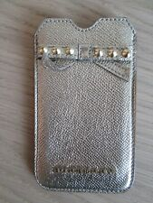 BURBERRY Gold Bow Detailing Iphone 4/4s Case 100% Calf Grain Leather  HA