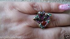 """Heidi Daus """"Calla Lily"""" Crystal-Accented Ring SZ 6 SWAROVSKI CRYSTALS LOVELY"""