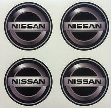 4x 45 mm fits NISSAN wheel STICKERS center badge centre trim cap hub alloy