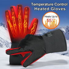 Winter Warm Electric Heated Gloves Outdoor Skiing Waterproof 3 Levels Control