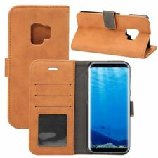 Deluxe Retro Cartera de bolsillo marrón para Samsung Galaxy S9 g960f
