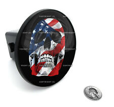 "2"" Tow Hitch Receiver Plug Cover Insert For SUV's & Trucks - ""USA SKULL"""