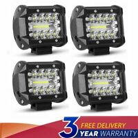 4x 4 inch  LED Work Light Bar Combo Spot Flood Off Road Truck Reverse Fog Lights