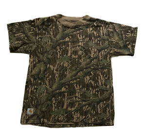 Carhartt Youth Sz M Short Sleeved REALTREE Cotton Pocket T-Shirt