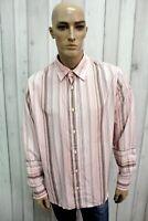 ARMANI JEANS Taglia 3XL Camicia Uomo Cotone Shirt Chemise Casual Manica Lunga
