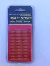 KORUM SPECIALIST CARP BOILIE STOPS - RED/YELLOW/BROWN