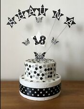 Birthday Cake Topper Butterflies On Wire 1st 18th 21st 30th 40th 50th 60th 70th