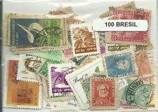 Lot de 100 timbres du Bresil