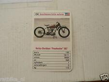 46-VINTAGE MOTORCYCLE C4 HARLEY D PEASHOOTER 1927  KWARTET KAART, QUARTETT CARD,