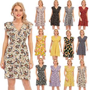 Women's Casual Dresses for Womens Floral Ladies Summer Boho Dress Beach PlusSize