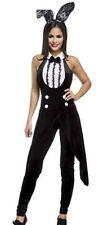 Damen Bunny Outfit Kostüm aus Neckholder Frack mit Puschelschwänzchen Rückenauss