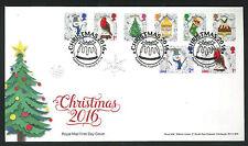 2016-Christmas FDC  Set Puddington, Tiverton Postmark -Sent Post Free