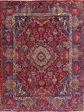 Excellent DYNASTY HISTORICAL Kashmar Animal Design Area Rug Wool Hand-Made 10x13