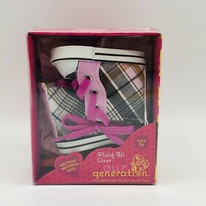 Our Generation Plaid All Over High Top Doll Shoes Sneakers Accessory NEW 2020