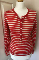 Boden 100% Wool Fine Knit Peach Striped Jumper U.K. 10