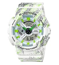 Casio G-Shock *GA110TX-7A Anadigi Graffiti White Watch COD PayPal #crzyj