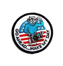 Go Ahead Make My Day Navy Tomcat F14 Embroidered Military Patch Iron Sew AKPM184