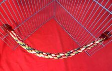 Rope Toy 22 Inches Flexible Chew Gnaw Exercise Climb Play Colourful Hamster Rat
