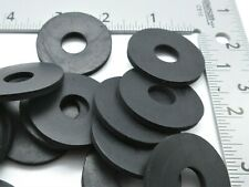 "1/2"" ID X-Large Rubber Fender Washers 1 1/2"" OD. 1/8"" Thick - Black"