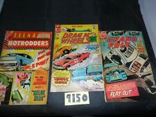 Lot of 3 Charlton Hot Rod comics Various Titles.  See Description.