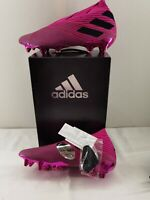 Adidas NEMEZIZ 19+ SG Football Shoes Shock Pink Core Black Rrp £180 UK Size 10.5