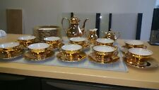 Exquisite Vintage Gold Rudolf Wachter Tea / Cake Bavaria setting for 10