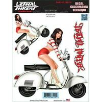 Lethal Threat YSLT00500 Green Helmet Babe Decal for All Bikes