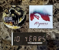 10 YEARS How To Live.. Minus The Machine Feeding Wolves Ltd Ed 3 Stickers Lot!