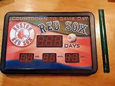 red sox countdown to game day digital timer